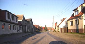 Dorfstraße in Hüselitz